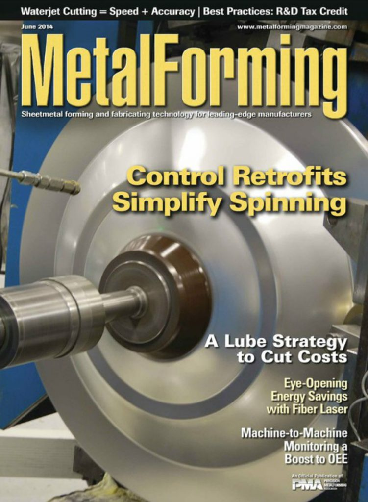 Metalforming Magazine June-2014 cover